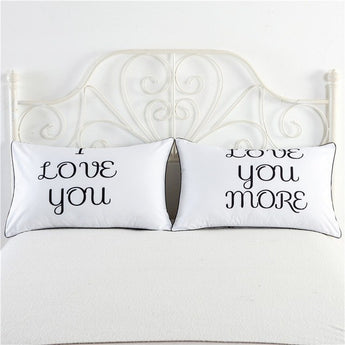 """Love You More"" Pillowcase Set"