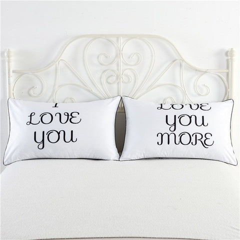 """Love You More"" Pillowcase Set - Passion Effect"