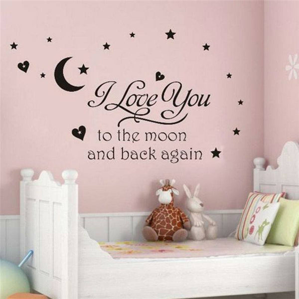 """I Love You To The Moon And Back Again"" Wall Decal"