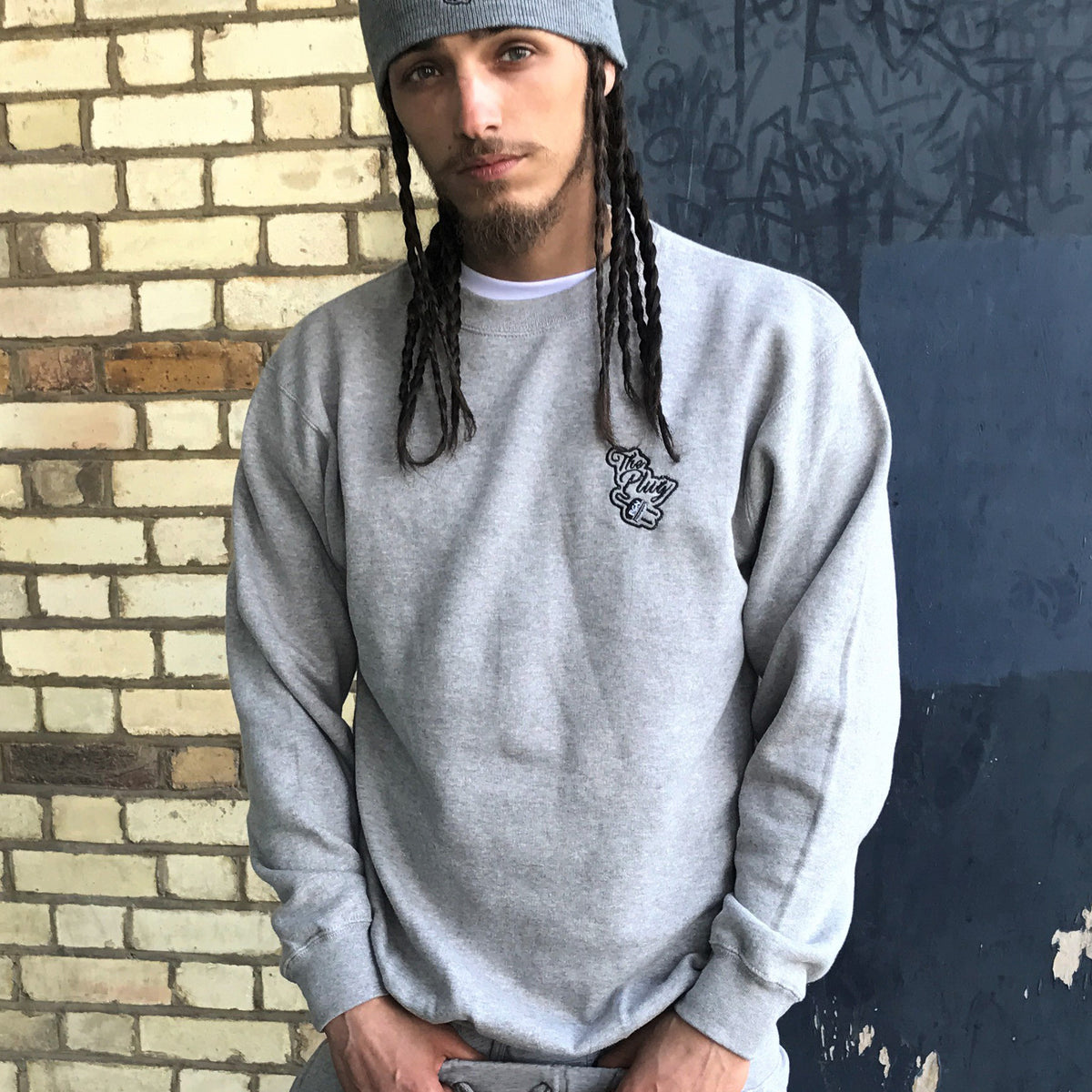 Crew Neck Sweatshirt Grey male