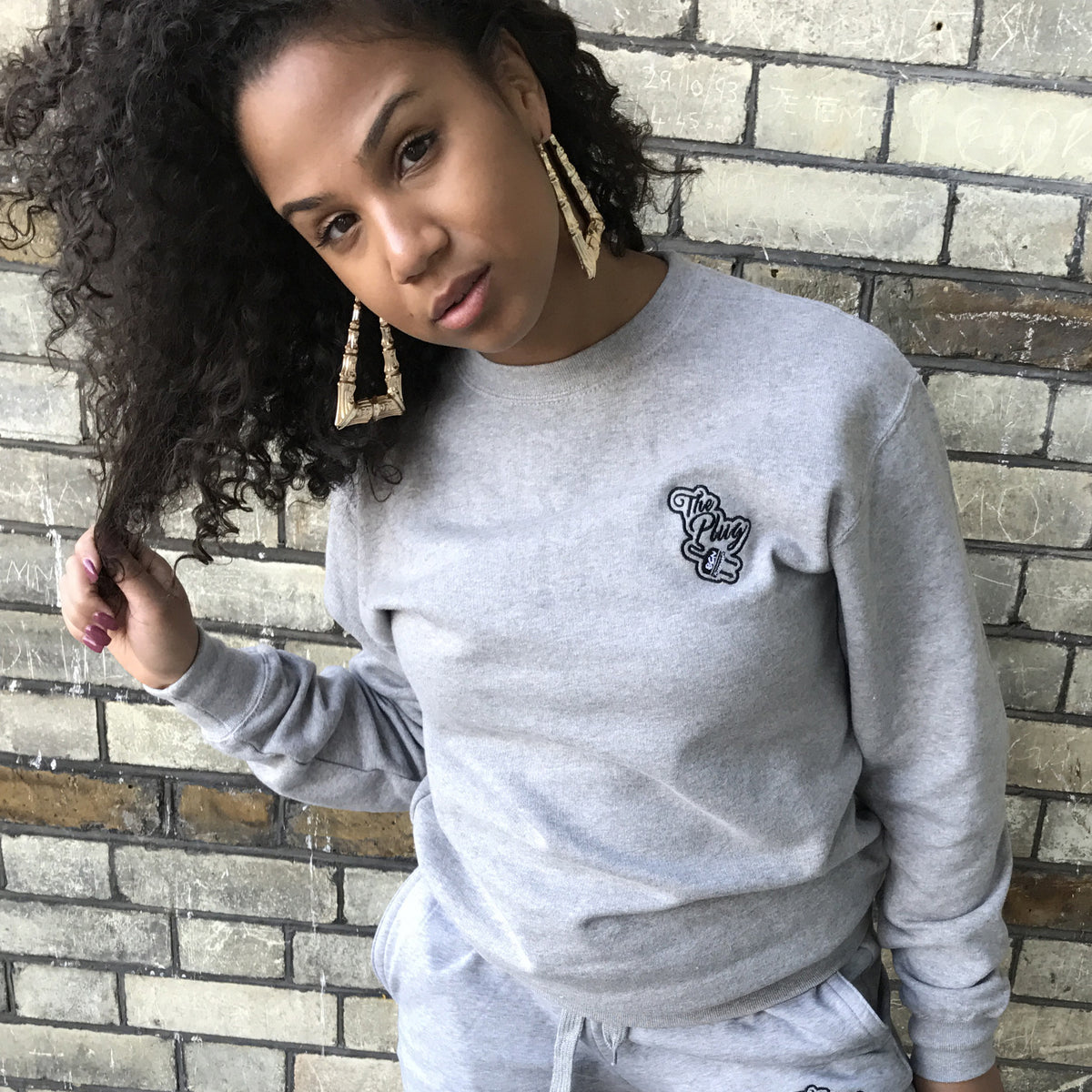 Crew Neck Sweatshirt Grey female