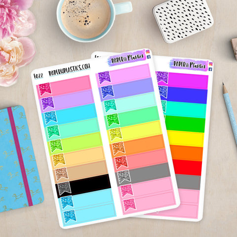 [F022 and F023] Glitter Flag Appointment Labels