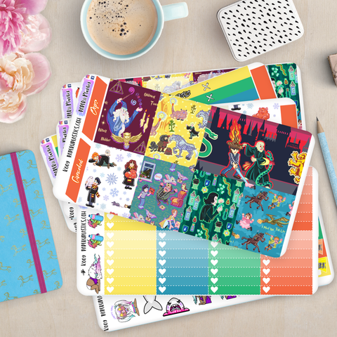 [K009] Wizard Fun Weekly Erin Condren Vertical Kit