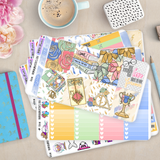 [K010] Pastel Potter Erin Condren Weekly Vertical Kit