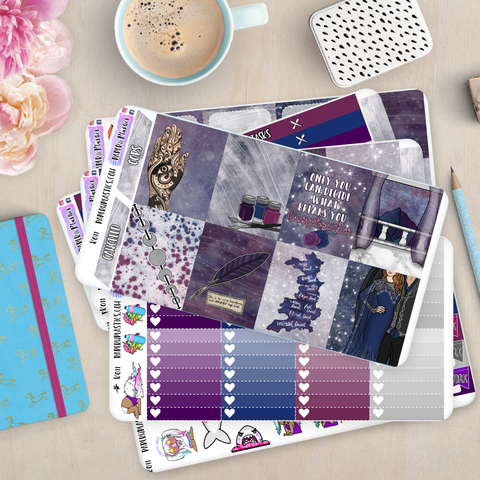 [K011] The Night Court Erin Condren Vertical Weekly Kit