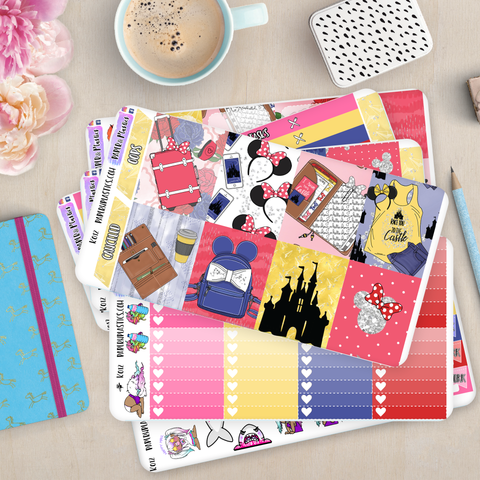 [K012] Magic Kingdom Erin Condren Vertical Weekly Kit