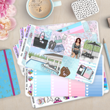 [K013] Pool Day Weekly Erin Condren Vertical Kit