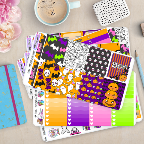 [K015] Spoopy Fun Erin Condren Vertical Weekly Kit