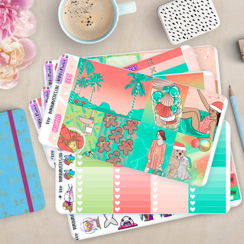 [K017] Summer Celebration Vertical Weekly Erin Condren Kit