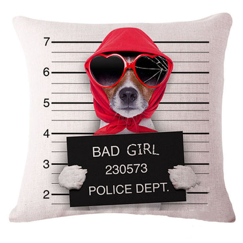 bad girl jack russell pillow cover artful pillows