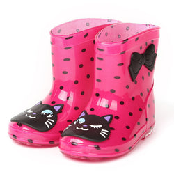Rain Boots Waterproof  with Cat