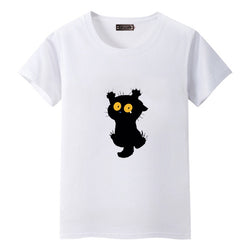 Black-Cat T-shirt white