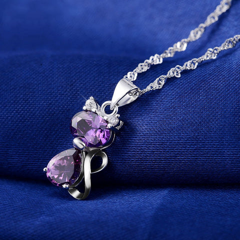 Cute Cat Pendants Necklace