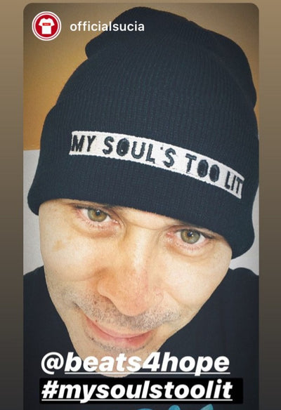 MY SOUL'S IS TOO LIT CUFFED BEANIE - Beats 4 Hope