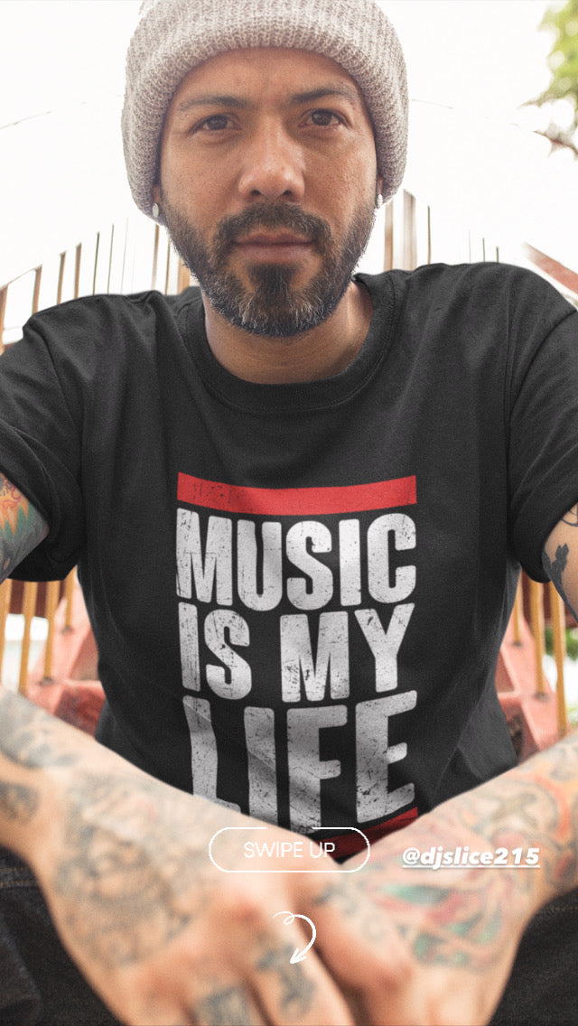 MUSIC IS MY LIFE Men's X T-Shirt