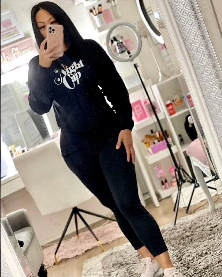 THE NIGHT CAP - Crop Hoodie