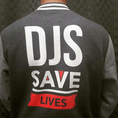 Dj's Save Lives - Men's Letterman Jacket - Beats 4 Hope