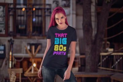 THAT BIG 80'S PARTY SPLASH WOMEN'S TEE - Beats 4 Hope