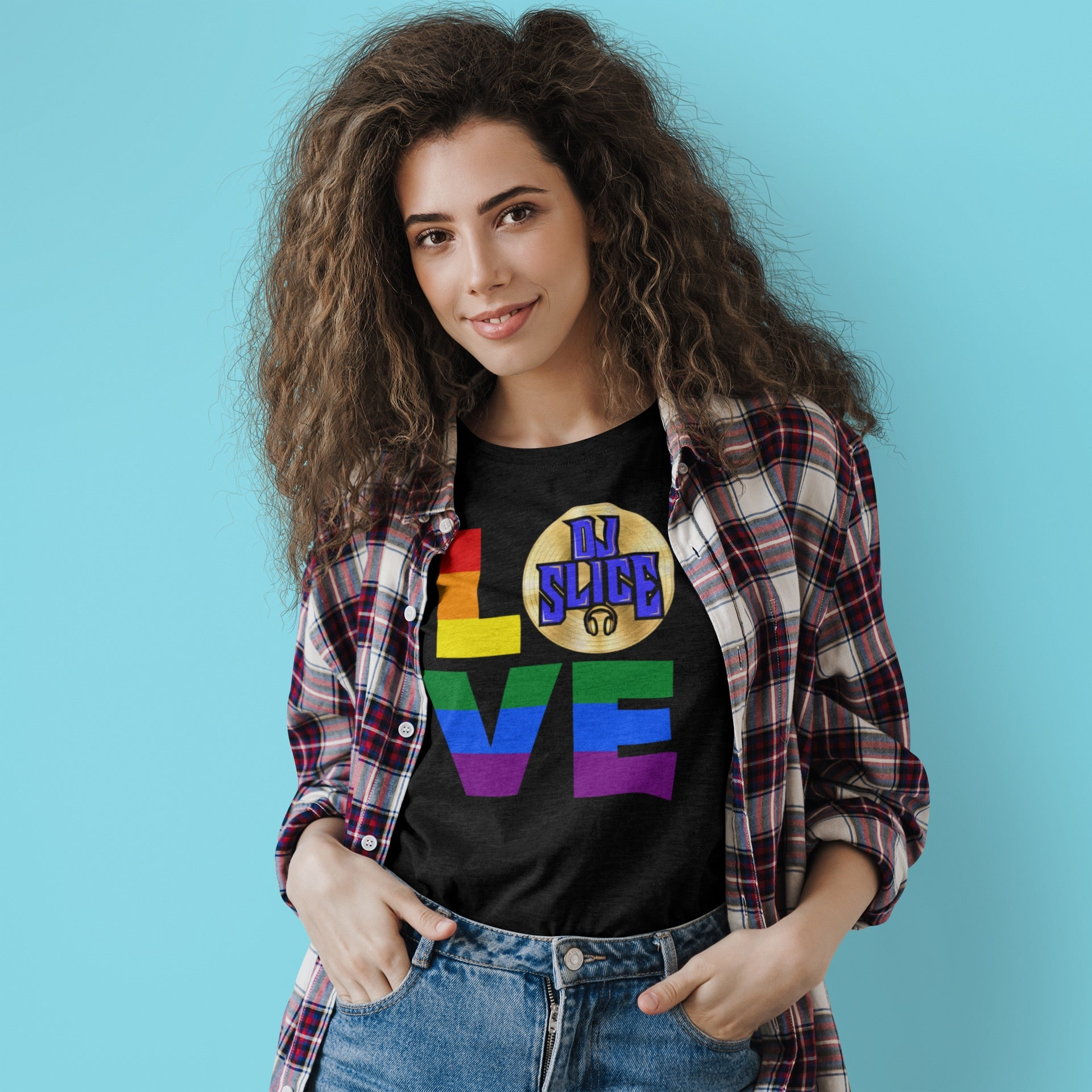DJ SLICE RAINBOW LOVE Men's T-Shirt