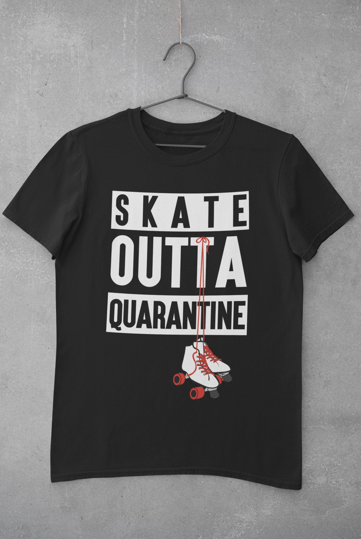 SKATE OUTTA QUARANTINE 2 Men's X  T-Shirt