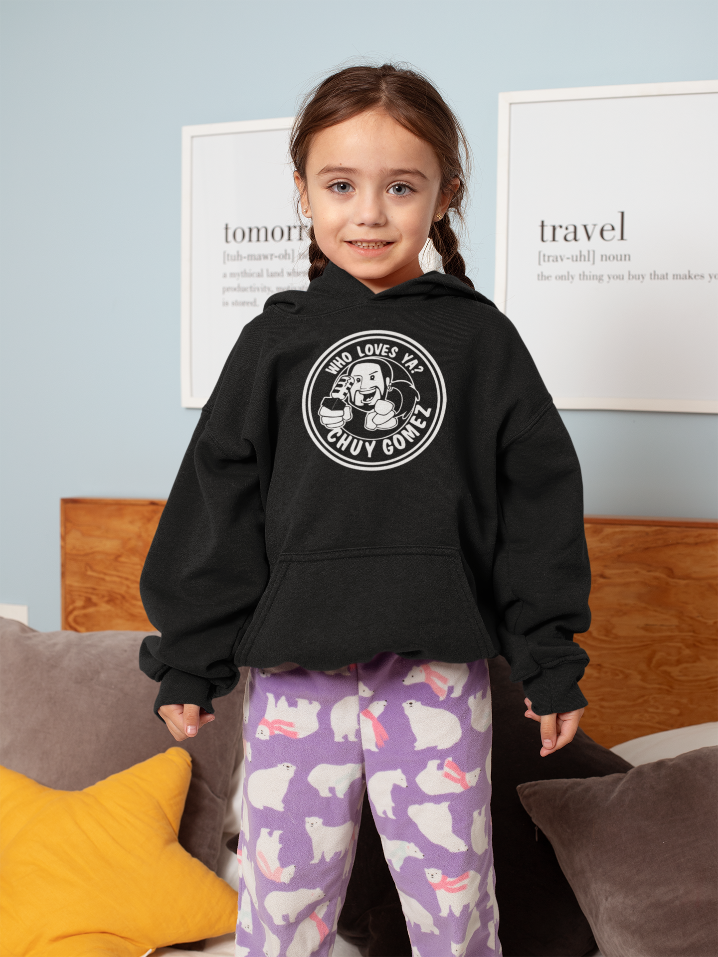 WHO LOVES YOU CHUY? - Kids Hoodie - Beats 4 Hope