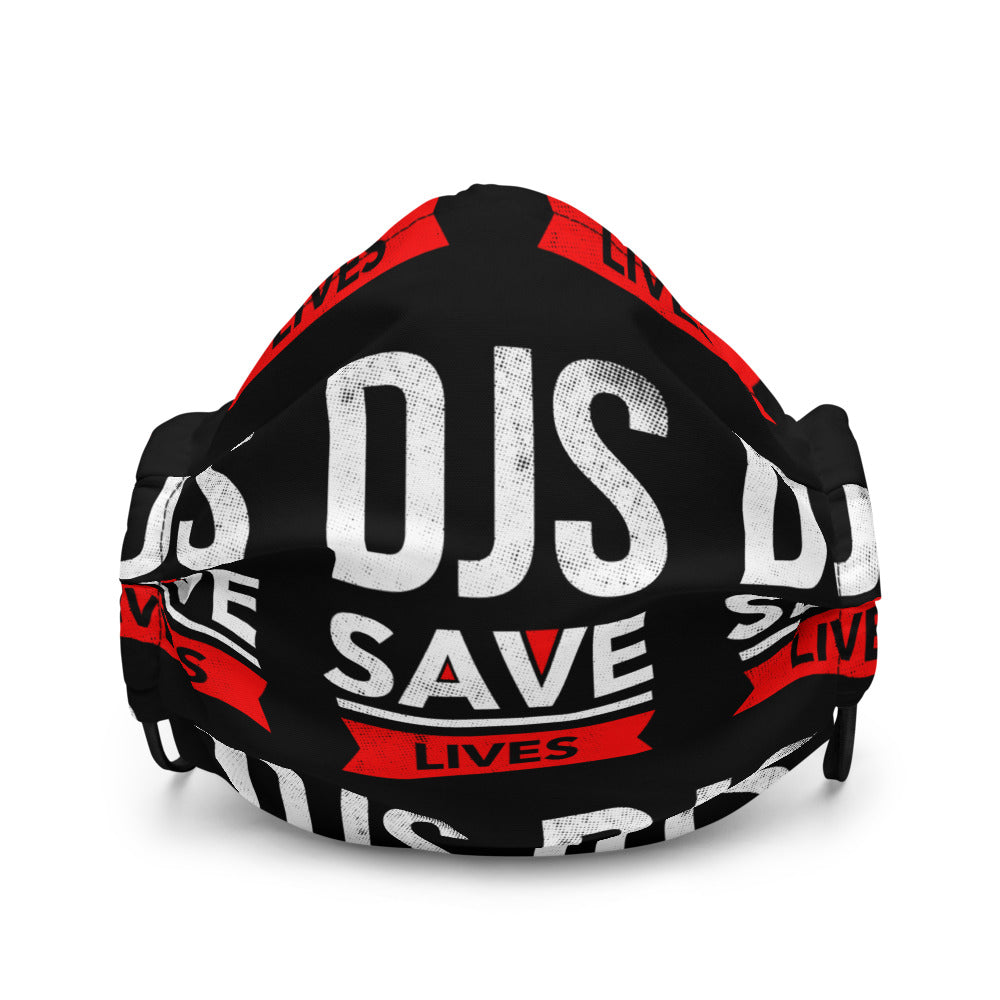 DJS SAVE LIVES Black Face Cover