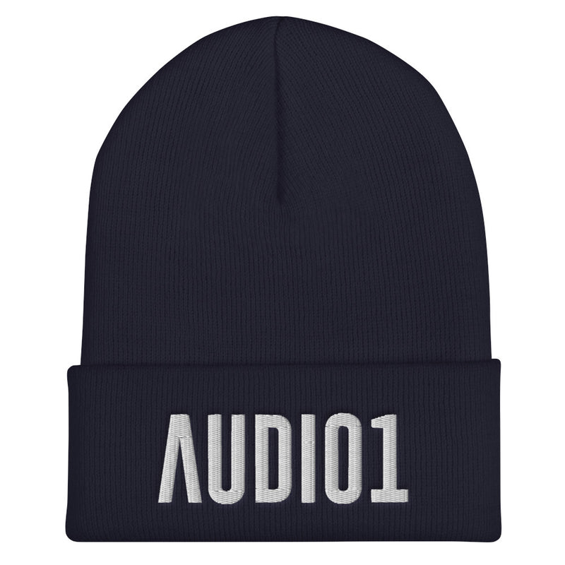 AUDIO1 - Embroidered Cuffed Beanie