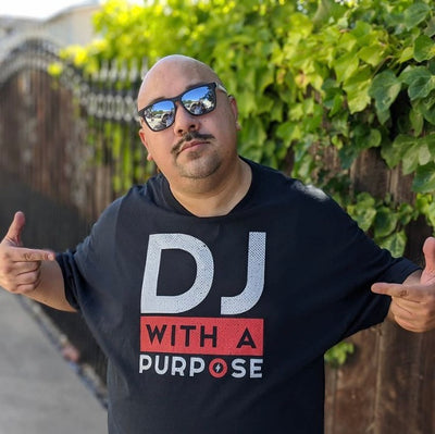DJ WITH A PURPOSE Men's X T-Shirt - Beats 4 Hope