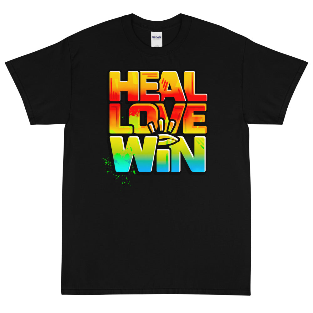 HEAL LOVE WIN - Men's X T-Shirt