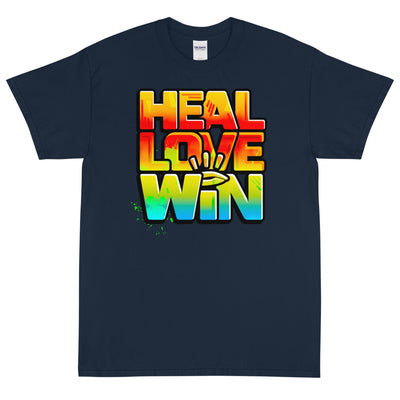HEAL LOVE WIN - Men's X T-Shirt - Beats 4 Hope