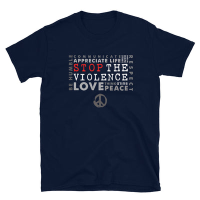 STOP THE VIOLENCE Grey T-Shirt - Beats 4 Hope