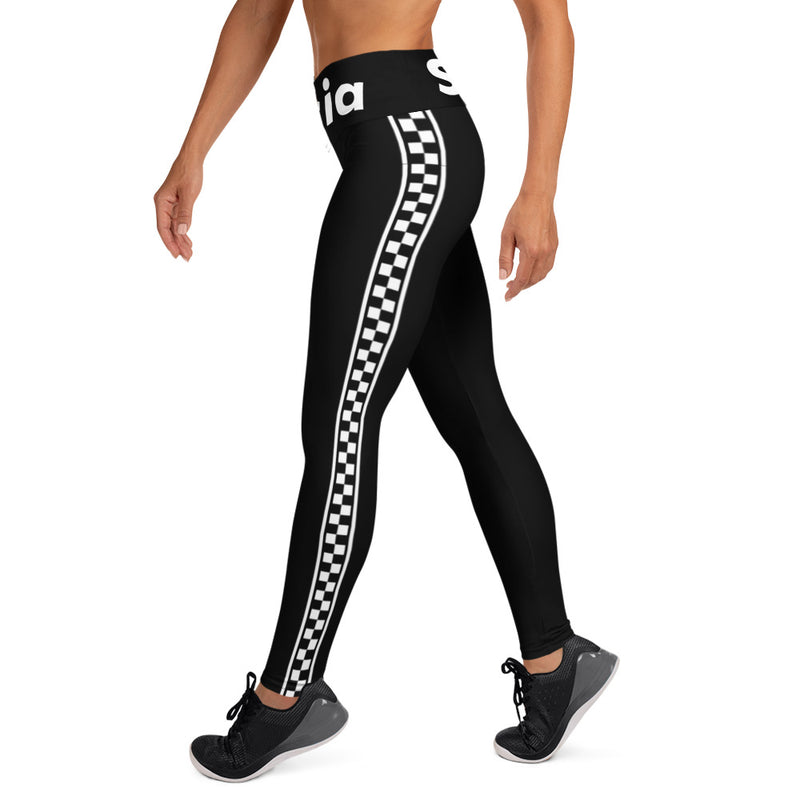 SUCIA All White Checker Leggings without Pocket