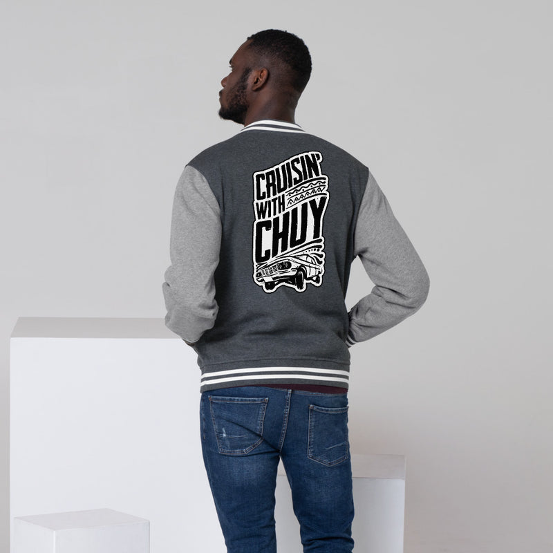 CRUISIN WITH CHUY - Men's Letterman Jacket - Beats 4 Hope