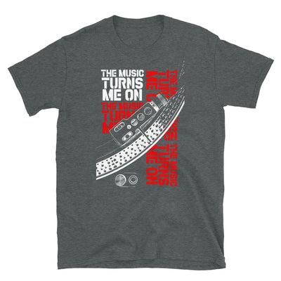 THE MUSIC TURNS ME ON T-Shirt - Beats 4 Hope
