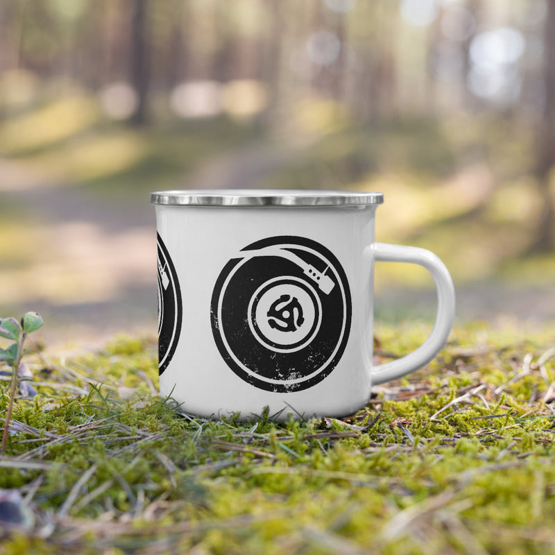 Turntable Life Enamel Mug