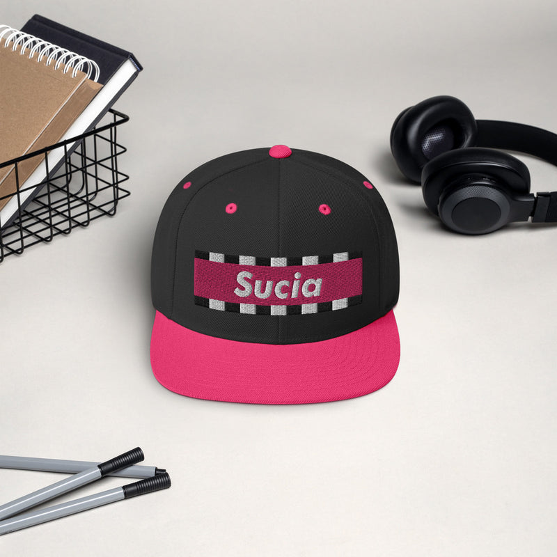 SUCIA RACER - PINK Snapback Hat LIMITED EDITION
