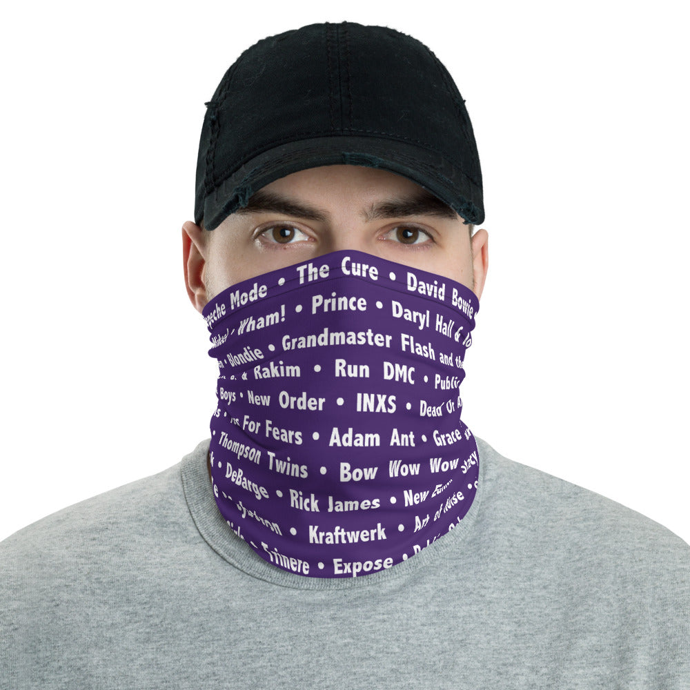 80's Purple Neck Gaiter