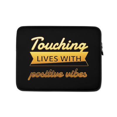 TOUCHING LIVES WITH POSITIVE VIBES - Laptop Sleeve - Beats 4 Hope