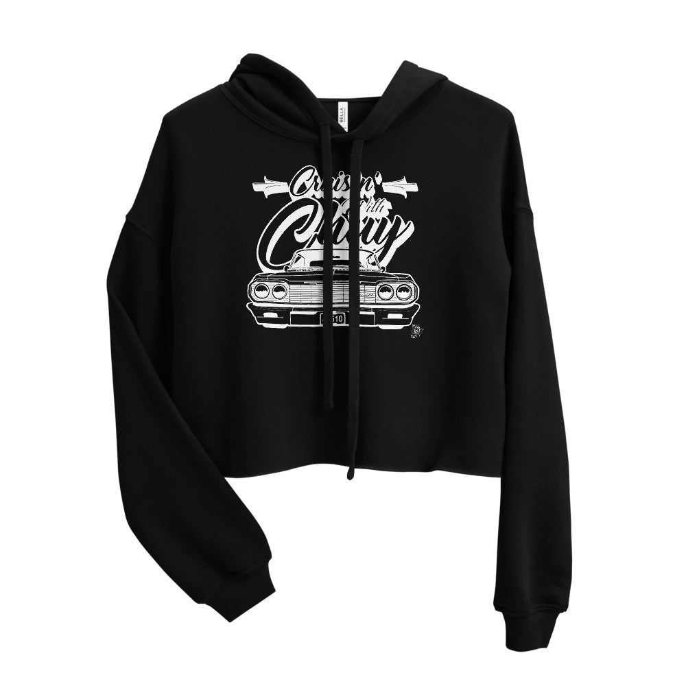 CRUISIN' WITH CHUY Women's Crop Hoodie