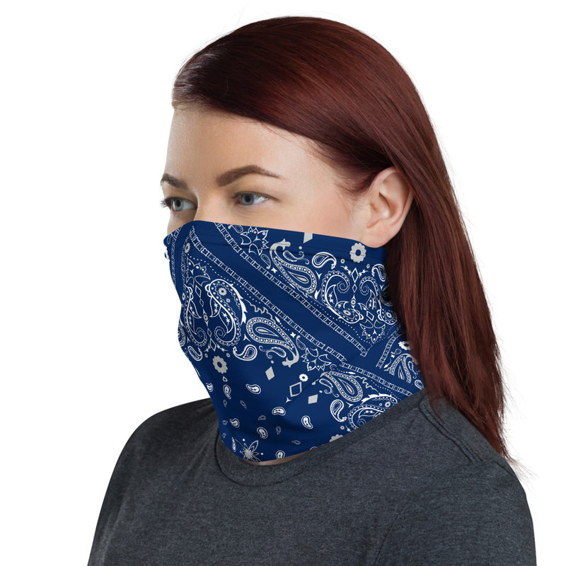 Blue Bandana Neck Gaiter - Beats 4 Hope