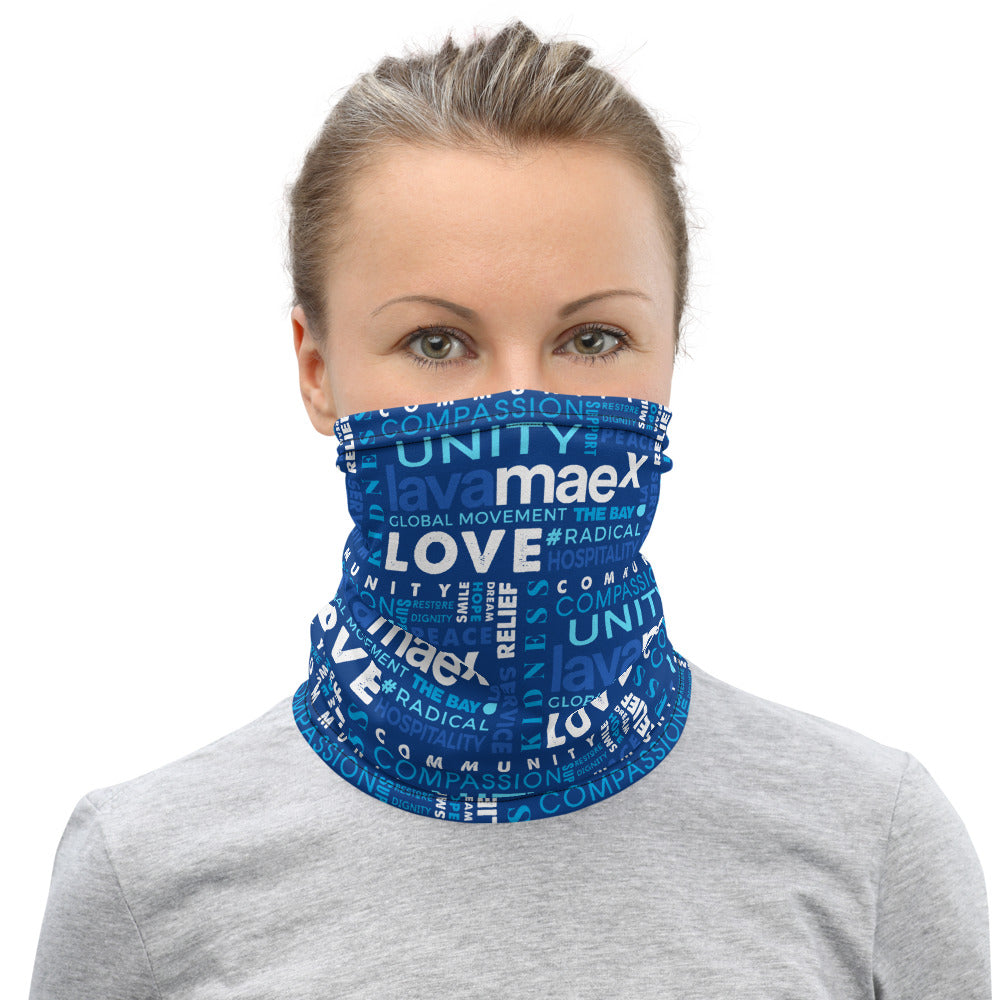 Lava MaeX BLUE Neck Gaiter - Beats 4 Hope