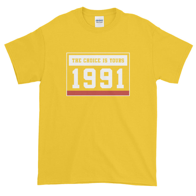 1991 THE CHOICE IS YOURS MEN'S TEE X