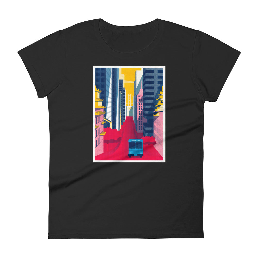 LavaMaeˣ SAN FRANCISCO SUNSET WOMEN'S T-SHIRT - Beats 4 Hope