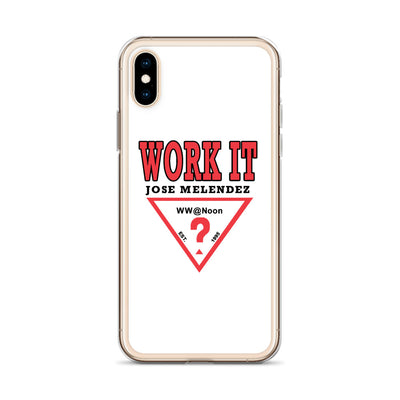 WORK IT - Jose Melendez iPhone Case - Beats 4 Hope
