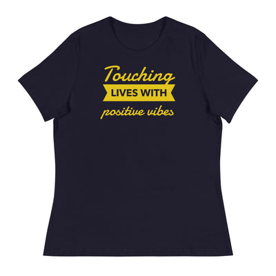 TOUCHING LIVES WITH POSITIVE VIBES Women's T-Shirt - Beats 4 Hope