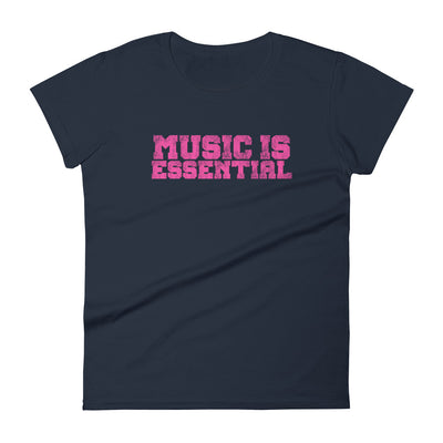 MUSIC IS ESSENTIAL - PINK * Women's t-shirt