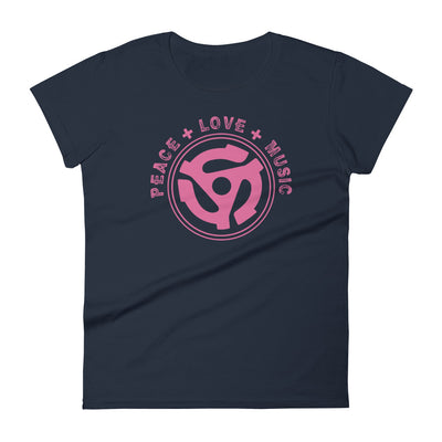 PEACE LOVE AND MUSIC THINK PINK TEE - Beats 4 Hope