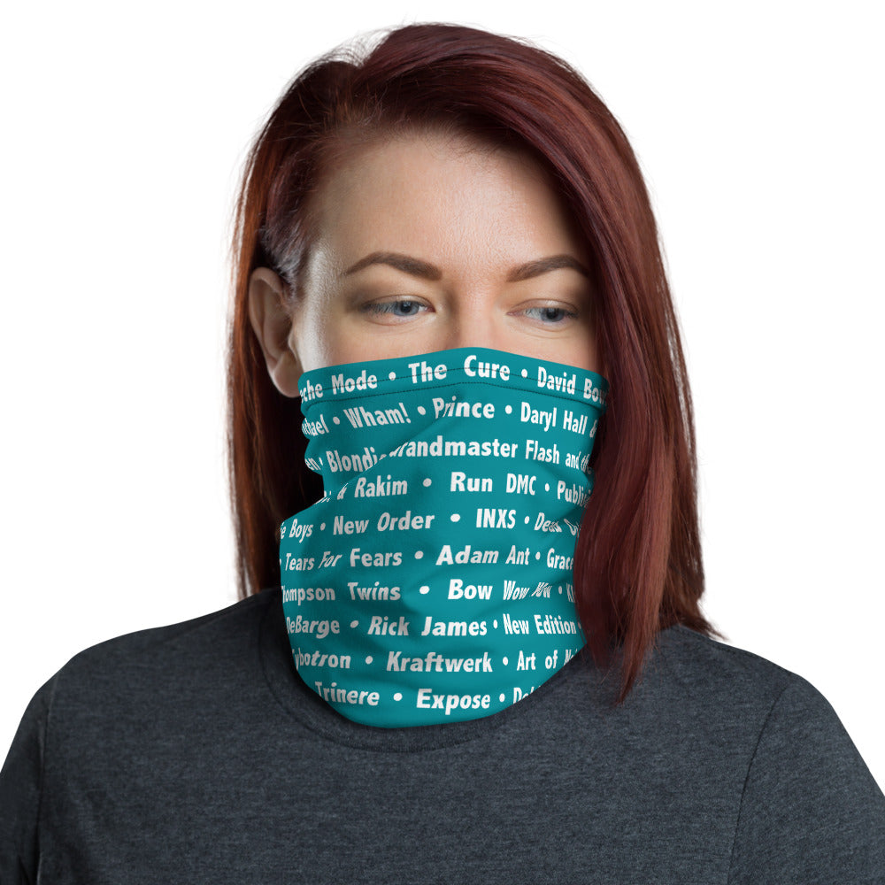 80's Teal Neck Gaiter - Beats 4 Hope