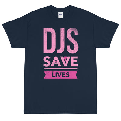 DJS SAVE LIVES PINK Men's X T-Shirt - Beats 4 Hope