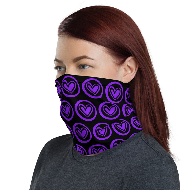 PURPLE HEARTS Neck Gaiter - Beats 4 Hope